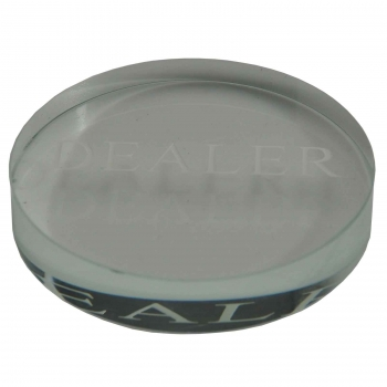 Dealer Button transparent aus Acryl